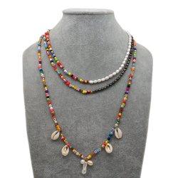 Mlgm Perle d'acqua dolce Collana per Donna 2021 Bohemian moda Arcobaleno semi Perle personalizzate Condimenti Pendoli Gioielli Percing Gioielli Collane di perle