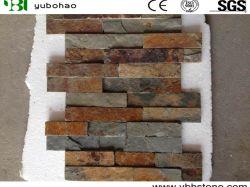 Naturel noir/vert/bleu/jaune/Rusty/Blanc/pavillon pour toiture en ardoise//Flooring/PLANCHER/revêtement mural/Paving/dalle/tuile mosaïque de pierre de la culture de l'Ardoise
