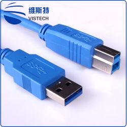 Cavo del USB 3.0 un maschio al micro maschio di B per 3.0 il nero del disco 80cm di HD con la carica ed i dati veloci