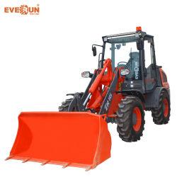 Lader van uitstekende kwaliteit van het Wiel van het VoorEind van Everun 1.2ton van de Apparatuur van de Bouw de Mini