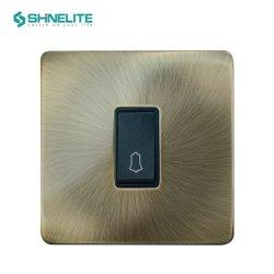 Antiker Nickel-Platten-Türklingel-Schalter mit Cer-Bescheinigung