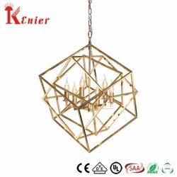 Alambre de hierro geométrica de la luz de lámpara de araña colgando colgante para interiores Iluminación para Restaurante