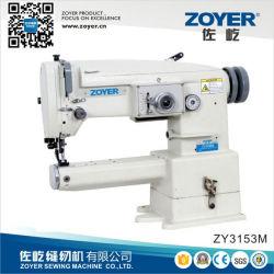 Zy3153m Zylinder-Bett-einstimmig-Zufuhr-Zickzack-Nähmaschine-großer Haken