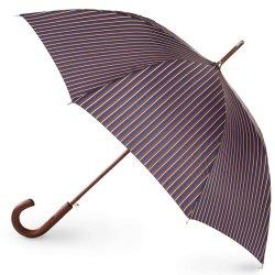 Ouvrir automatiquement le manche en bois de haute qualité J Stick parapluie Windproof Classic