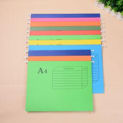 Eco-Friendly FC Papel tamanho A4 Travando pasta de ficheiros Office Suspensão Escolar Arquivo de pasta de papel branco