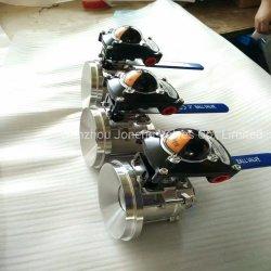 Manuel en acier inoxydable le commutateur de limite inférieure du réservoir de la vanne sphérique (JN-BLV2009)
