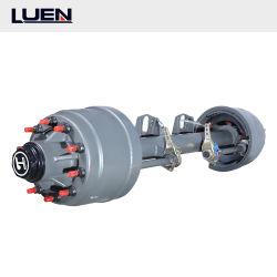 Página de Luen China fábrica de camiones 14t 1840mm PCD335 camión remolque Fuwa Semi eje/BPW EJES