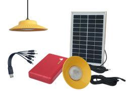 O Sistema de Iluminação de Energia Solar Portátil para uso doméstico e carregue o Telemóvel