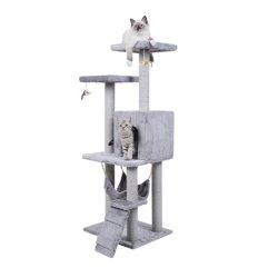 Camera di albero di legno rampicante moderna del gatto della torretta della mobilia del condominio di Scratcher dell'animale domestico della graffiatura del castello del sisal grande grande