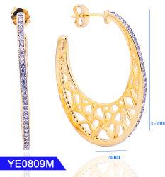 Des Fräulein-Jewelry Diamant CZ Qualitäts-Cuff einfacher Sterlingdes silber-925 Ohrring