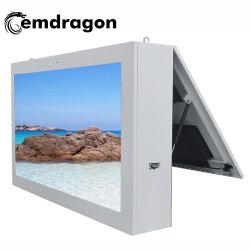 65 Zoll Wind-Kühlte die horizontale Bildschirm-Wand ab, die im Freienbekanntmachenmaschinen-aufgeteilter Bildschirm-Anzeigen-Bildschirmanzeige-Knall-Spieler mit Touch Screen LCD-multi Touch Screen hängt