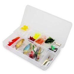 صيد الأسماك مجموعة مع صندوق بكّارة رفع، علاجات خفيفة للصيد البلاستيك للباس، سمك التوت، سمك السلمون المياه العذبة معدات صيد الأسماك هدايا