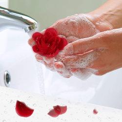 Hochwertige 18PCS floral duftend Badseife Rose Blume mit Geschenkbox