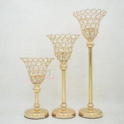 Оружия высокий акриловый Crystal Reports для приготовления чая и лампа в форме свечи держатель Candelabra таблица занимает центральное место для проведения свадеб оформление