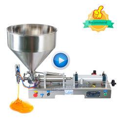 Semi-automatique de l'eau de la crème glacée miel liquide sauce au jus de la pâte de tomate de boissons gazeuses machine de remplissage