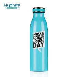 Bottiglia di acqua moderna semplice del bullone - bottiglia stretta di Travle di sport isolata vuoto dell'acciaio inossidabile della bocca 18/8