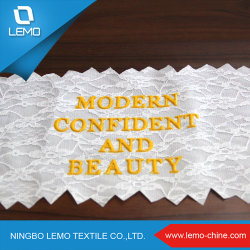 New Fashion English Letter Pattern Embroidery Lace