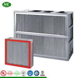 Filtro de aire acondicionado resistente al calor de aire en el separador de filtro HEPA