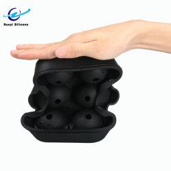 Silicone Non-Toxic Forma esférica de silicone de cubos de gelo do molde de bandeja