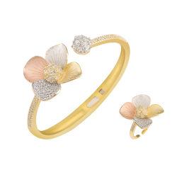 Fleur Open size Bijoux Bracelets femme bracelets en laiton de mariage