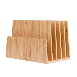 Mobilevision bambou Dossier de fichiers et de l'organiseur de bureau bac à papier, 5 emplacements