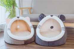 Chaud doux hiver Cat Pet lit chaud maison caverne Chien nid doux Kennel chaton lit chambre Sac de couchage pour les petites et moyennes des chiens de fournitures