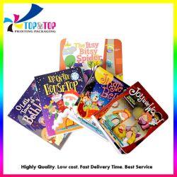 Atraente capa dura colorido som crianças falando a impressão de livros da placa de música