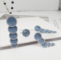 La turquoise Bijoux en argent ensemble bague collier Earring Mode bijoux