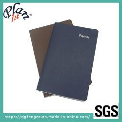 Pasta para notebook de couro PU Ordem do organizador do Capacity Planner Papelaria A6 A5