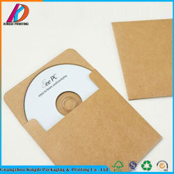 Busta su ordinazione della casella della carta kraft Del sacchetto di colore DVD del Brown per CD
