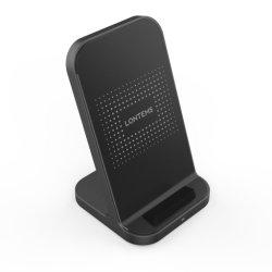Лучший дизайн стенда вертикального типа ци Быстрая Беспроводная зарядка аккумуляторной батареи