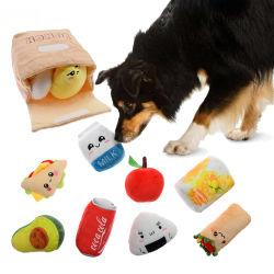 昼食袋のコレクションのプラシ天ペット犬のおもちゃ