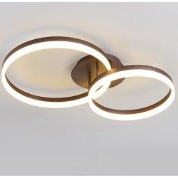 Hölzerner LED-Deckenleuchte-moderner Wohnzimmer-Ring-drehende Treppenhausschacht-lange Deckenleuchte-Hotel-Vorhalle-Beleuchtung (GX-802)