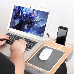Lapgear Home Office Lap Desk met Device Ledge Mouse Pad En telefoonhouder - Silver Carbon-laptoptafel