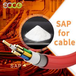 Venda a quente Super Polímero absorvente SAP para produção de pó de cabos eléctricos/Óleo de Enchimento de Produtos Químicos
