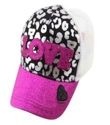 3D 자수 폴리에스테르 5 패널 하절기가 있는 걸 야구 모자 Glitter brim 프로모션 햇과 함께 하는 패션 스포츠 트러커 캡