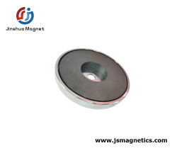 Super fuerte imán Imán de ferrita de olla de cerámica de montaje de la base de imán fabricante en China