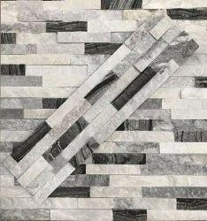 Noir Gris Blanc Mélange de couleur ardoise de revêtement de pierre d'élevage de la nature pour la cascade de mur extérieur