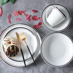 Feinporzellan Porzellan Set mit Farbrand