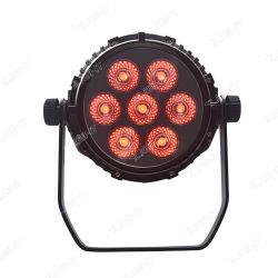 7 PCS 10 LED RGBW الإضاءة الاسمية المقاومة للماء Beam Professional Stage ضوء البطارية الخفيف DJ DJ Distco Bar Effect Lighting Equipment