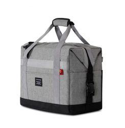 حقيبة تبريد كبيرة، حقيبة تسوق ممهّد مانعة للتسرب قابلة للطي مع حزام كتف