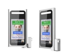 Système de contrôle d'accès de reconnaissance de visage avec poignet mesurant la température d'alarme vocale sans contact