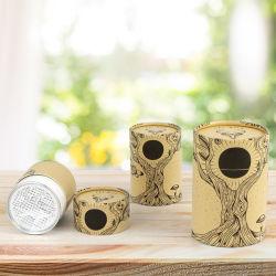 Firstsail OEM Kraft 판지 밀폐 실린더 식품 분말 종이 튜브 알루미늄 이지 오픈 리드 포일 Peel off 포장 상자