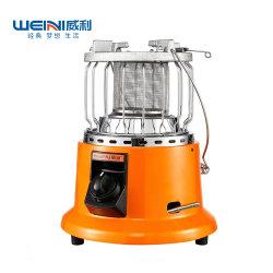2in1 쿠커 전기 가열 테이블 상단 파티오 소형 이동식 가스 객실 히터