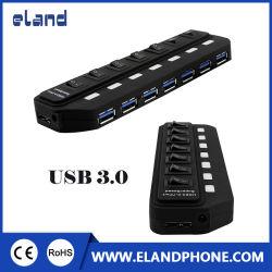 USB 3.0 HUB USB 3.0 7-портовый концентратор с 15Вт (5V 3A) на базе адаптера питания и удлинительный кабель USB