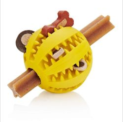 Venta directa de fábrica de juguetes para mascotas masticar los alimentos con fugas mordida Molar Bola Bola de menta