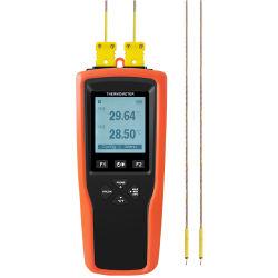 Zweikanaltyp hohe Präzisions-Thermoelement-Digital-Kalibrator-Thermometer der fühler-K T J für industriellen Bereich