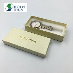 Boîte en carton Rectangle Watch Cas avec oreiller coffrets cadeaux d'emballage Ciel et Terre de couvrir la boîte