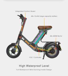 48V China motocicleta ciclomotor Scooter eléctrico con la CEE de transmisión trasera 400W