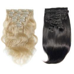 Cabeza llena 120g/Conjunto Virgen Remy Clip Hair Extension